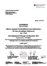 Dermatest-Zertifikat für FFP2-Maske 7143