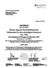 Dermatest-Zertifikat