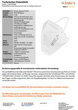 Technisches Datenblatt für unsere FFP2-Masken